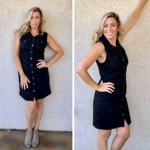 LEVI's sleeveless black denim dress NWT